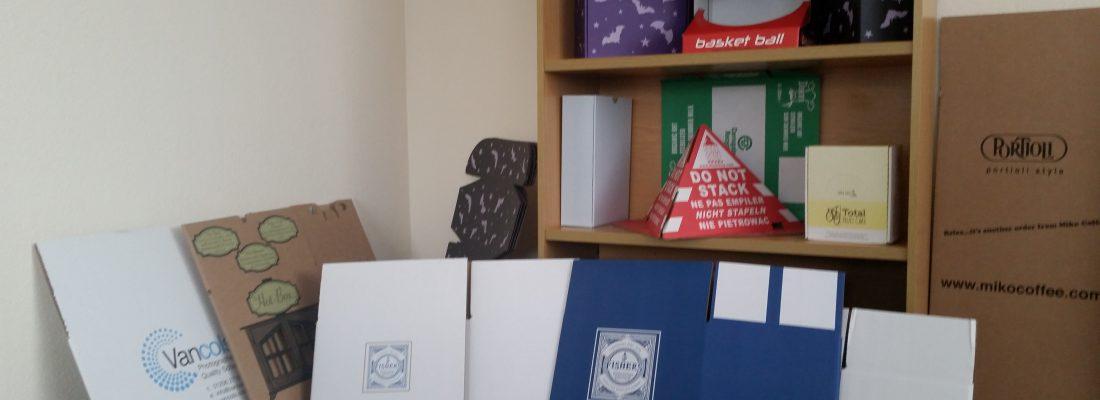 Printed corrugated cardboard boxes