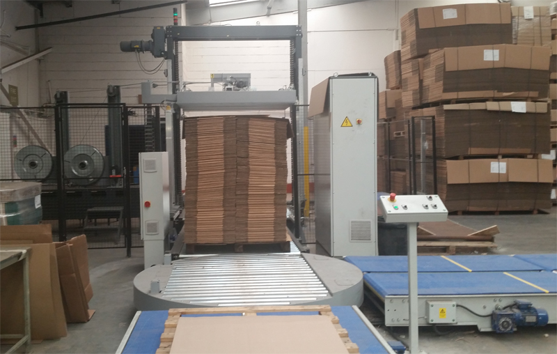 Automated pallet press