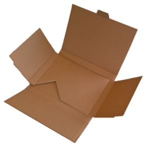 Die-cut corrugated cardboard box